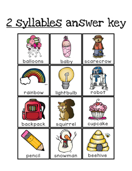 Syllable Sorting Game