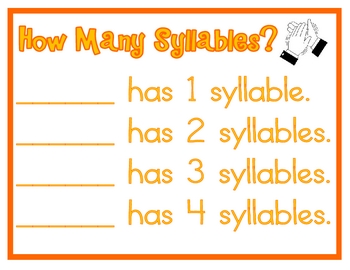 Syllable Sorting Literacy Station