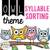 Syllable Sorting Mats {owl-themed}