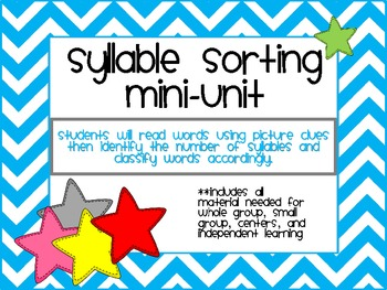 Syllable Sorting Mini-Unit-aligned with CCSS
