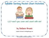 Syllable Sorting Pocket Chart Activities