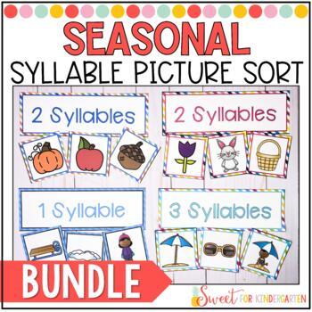 Syllable Sorts- All Seasons {BUNDLE}