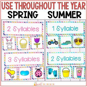 Syllable Sorts- All Seasons BUNDLE