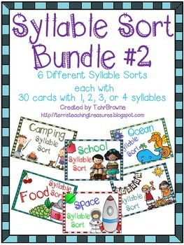Syllable Sorts Bundle 2