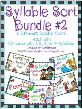 Syllable Sorts Bundle 2