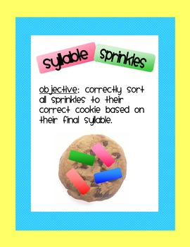 Syllable Sprinkle with Final Stable Syllable -le