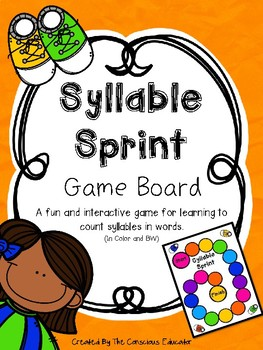Syllable Sprint Game Board and Printables