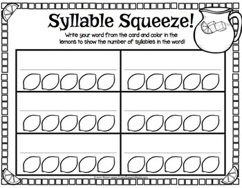 multisyllabic word activities for speech therapy by jenn alcorn tpt. Black Bedroom Furniture Sets. Home Design Ideas