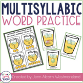 Multisyllabic Word Activities for Speech Therapy
