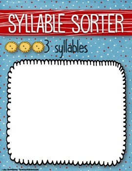Syllable Stars Games for Reading, Understanding, and Counting Syllables