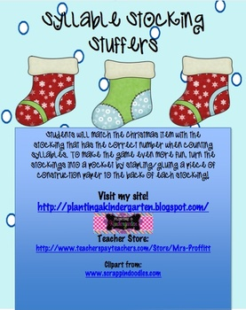Syllable Stocking Stuffers