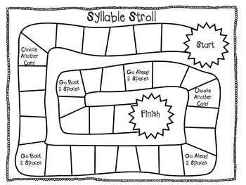 Syllable Stroll - Sight Word Follow the Path Game