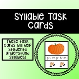 Syllable Task Cards (1, 2, 3, and 4 Syllable Words)