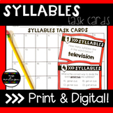 Syllable Task Cards   Print and Digital   Google Slides ™