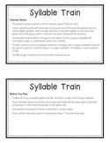 Syllable Train