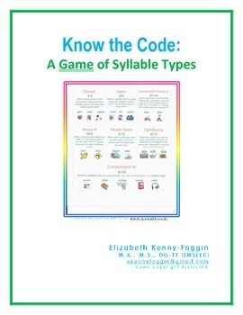 Syllable Type Game- A Multisensory Approach
