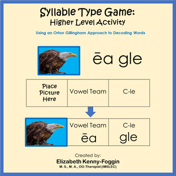 Syllable Type Game: Higher Level Activity