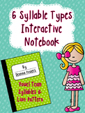 Syllable Type Interactive Notebook- Vowel Team (VV) and Lion Pattern (V/V)