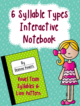 Syllable Type Interactive Notebook- Vowel Team (VV) and Li