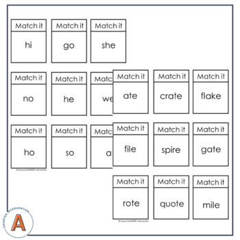 Syllable Type Sorts (Six Syllables)