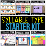 Syllable Type Starter Kit