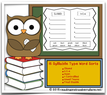 Syllable Type Word Sorts
