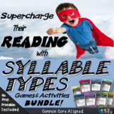 Syllable Types Units 1-8 Bundle Plus Editable Templates!