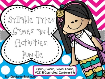 Syllable Types Bundle (Games and Activities for all 6 Syll