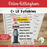 Syllable Types: C+LE Syllables Orton-Gillingham Activities