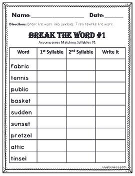 Syllable Types: Closed Syllables