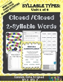 Syllable Types: Closed Syllables 2-Syllable Words