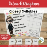 Syllable Types: Closed Syllables Orton-Gillingham Activiti