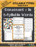 Syllable Types: Consonant + le  2 Syllable Words