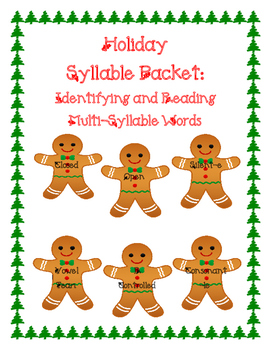 Syllable Types: Holiday Pack