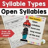 Syllable Types: Open Syllables | Orton-Gillingham Activiti