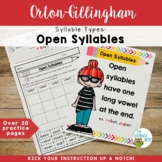 Syllable Types: Open Syllables Orton-Gillingham Activities
