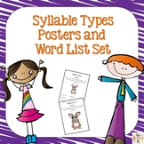 Syllable Types Phonics Posters and Word Lists