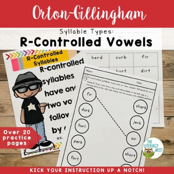 Syllable Types: R-Controlled Vowels Orton-Gillingham Multisensory Activities
