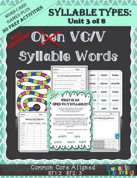 Syllable Types: VC/V Open Syllable Rule Breakers
