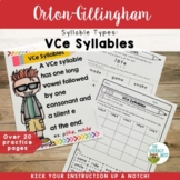 Syllable Types: VCe Silent E Orton-Gillingham Multisensory Activities