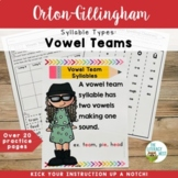 Syllable Types: Vowel Teams and Vowel Diphthongs Orton-Gillingham Multisensory