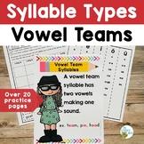 Syllable Types: Vowel Teams | Orton-Gillingham Multisensor