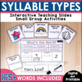 Syllable Types and Syllable Division - Digital & Printable