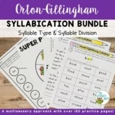Orton-Gillingham Activities Syllable Types Syllable Divisi