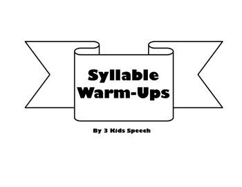 Syllable Warm-Ups