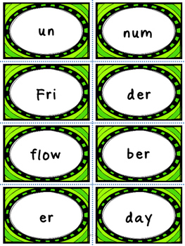 Syllable Word Building Activities