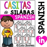 Syllable Word Family Homes in Spanish (las silabas)