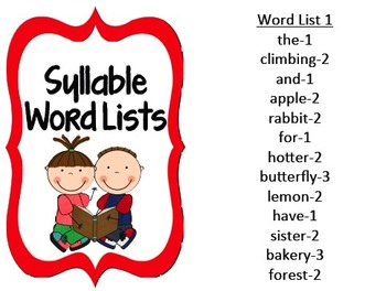 Syllable Word Lists