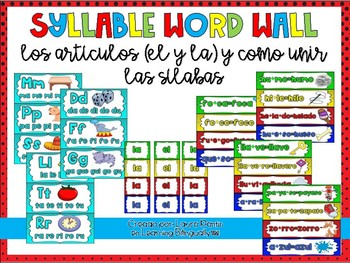 Syllable Word Wall Cards (Article & Joining Syllables)