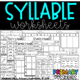 Syllable Worksheets Distance Learning